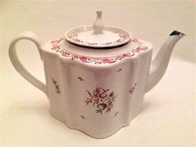 New Hall TEAPOT 18th Century Antique English Porcelain Tea Pot