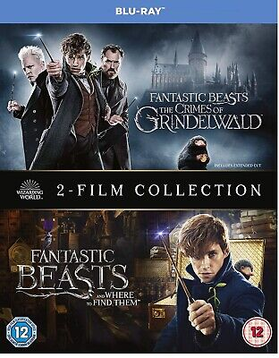 FANTASTIC BEASTS 1&2 (includes Grindelwald) Blu-Ray Two Film Collection Set NEW