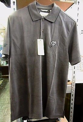 39a8c034 Mens New Miami Dolphins CubaVera Polo Rugby Shirt Size Large L Black/Gray  NWT
