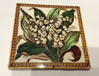 Victorian Transfer Tile - Lily of the Valley design  RN 21606    -  # 5110