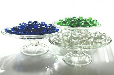 80 x Clear Mosaic Lead Light Craft Art Glass Spheres Balls Orbs Round Marbles
