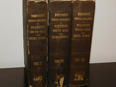 Biblical Researches in Palestine - Edward Robinson 1841 (3 volumes)