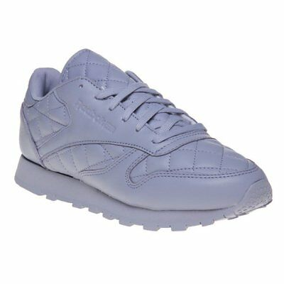 9d946037214 NEW WOMENS REEBOK PURPLE CLASSIC LEATHER QUILTED Sneakers Mono ...