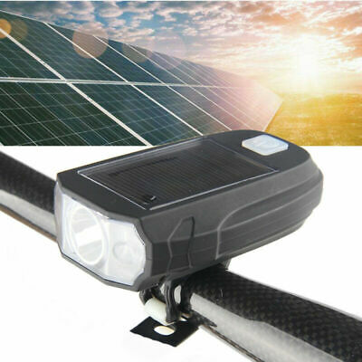 Waterproof Rechargeable Bright Solar LED Bike Light Bicycle Cycle Front Lamp SFT