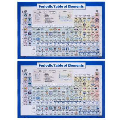 Periodic Table of Elements Poster 40x60cm Print Wall Sticker Chemistry Chart