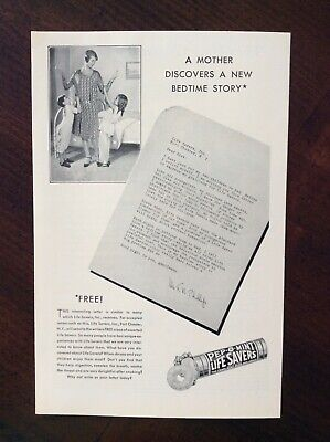 1930 vintage Original ad Life Savers Pep-O-Mint Candy fantastic condition