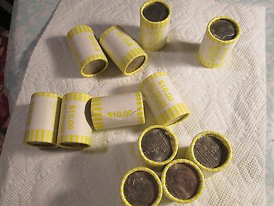 Unsearched Kennedy Half Dollar Roll  [ Bicentennial Coins On Each End!!]