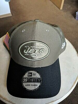 new products 022e7 67225 New York Jets Salute To Service New Era Hat Cap Large - XLarge 39thirty Flex  NFL