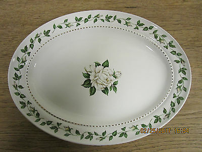 """HALL CHINA CAMEO ROSE Large Serving Platter. 13 3/8"""""""