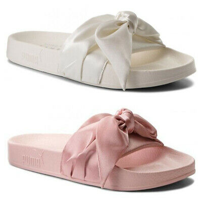 70f0d0511029 PUMA Fenty X By Rihanna Womens Bow Slides Ladies White Pink 365774 02 03