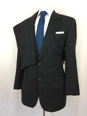 bda704f4 HUGO BOSS Black 2Pc SUIT Apollon 40R 32x32 Gray Pinstripe WOOL Akropolis