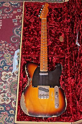 Fender 1952 Telecaster Heavy Relic CS Handwound PU's Sunburst Custom Shop 2016