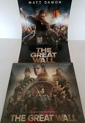 The Great Wall Soundtrack with Poster Lot of 2 Ramin Djawadi Sealed LP NEW 2017