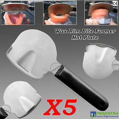 Orthodontics Denture Rim Bite Former Hot Plate Paddle for Upper-Lower Wax 5PCS