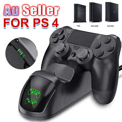 DOBE PS4 LED Docking Charger Station Controller 4 Shock Charging Dual