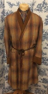 """Genuine 1940's Mens Wool Dressing Gown Size 40-42"""" Chest"""