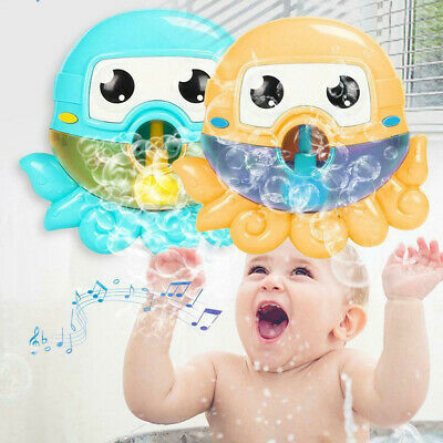 Cute Baby Bath Bubble Maker Kids Pool Swimming Bathtub Soap Machine Toys Gifts