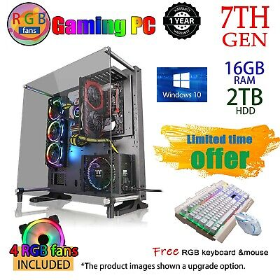 AMD 200GE Dual Core | 8GB | 120GB SSD | Gaming Computer System Office Desktop PC