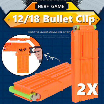 12/18 Darts Bullets Reload Clip Ammo Magazine Cartridge Holder N-erf NStrike Toy