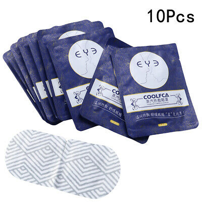 10PCS Warm Eye Mask Soothing Fragrance Free Steam Eye Pads for Office Sleeping