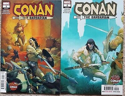 Conan the Barbarian (2019 Marvel series by Jason Aaron) #1 and #2 - NM- approx.