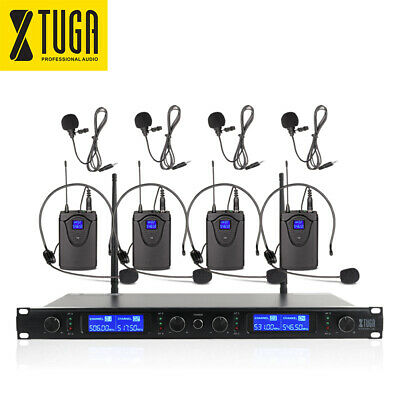XTUGA A100 UHF Wireless Microphone System 2 Cordless Handheld Mic for DJ Karaoke