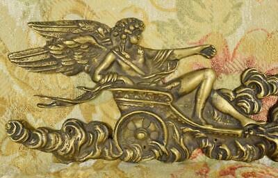 Stunning Antique French Brass Mount, Winged Greek Goddess & Butterflies 19th C