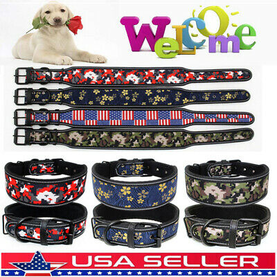 Soft Nylon Personalized Dog Collar Name ID for Small Medium Large Dogs US