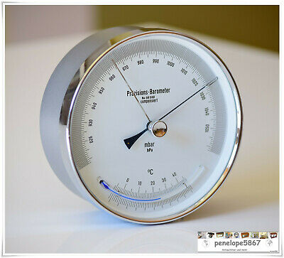 @ Lufft Präzisions Barometer mit Thermometer CHROM Yacht Barograph @