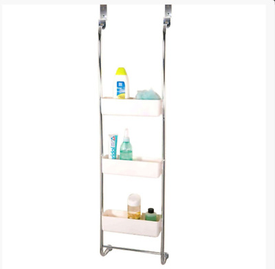 3-Tier Chrome Bathroom Hanging Rack | Triple Basket Shower Caddy