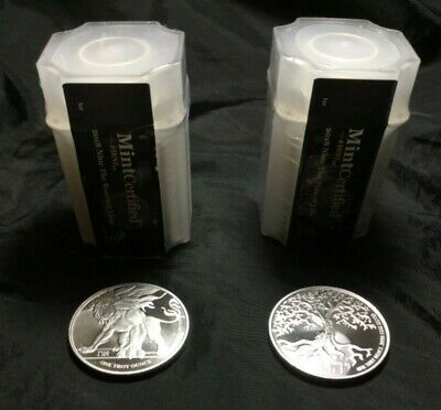 2018 NIUE TREE OF LIFE & ROARING Lion 9999 Silver First 30 Sealed Tubes 40 ozt