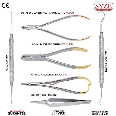Orthodontic Lingual Distal End Cutter, Mathieu Needle Holder TC Instruments 6PCS