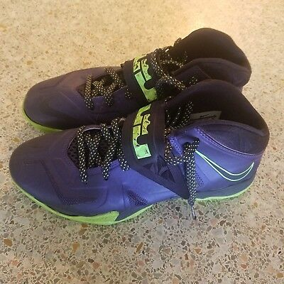 low priced 71211 72c44 NIKE LeBron ZOOM SOLDIER VII MEN S SIZE 8 PURPLE LIME 599264-500 2013