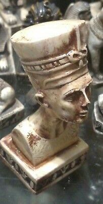Egyptian Statue, Queen Nefertiti,  Hand Carved Natural Stone, 90 mm