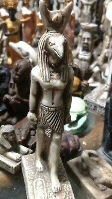Egyptian Statue HORUS Symbol of Protection 150 mm Natural Limestone Sculpture