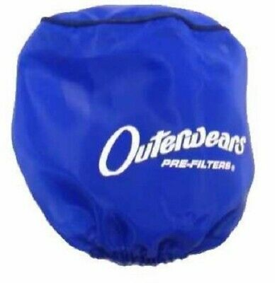 """Blue Air Filter Cover Outerwears Performance Pre-Filter 3/"""" x 4/"""" Go Kart"""