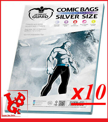 Pochettes Protection Silver Size REFERMABLES comics x 10 Marvel Panini Bags