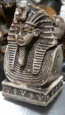 Egyptian Statue, King Tutankhamun, 75 mm, Natural Carved Stone