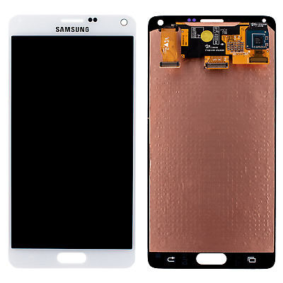 Original Samsung Note 4 Display N910F LCD Front Glas Bildschirm Touch Weiß
