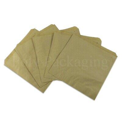 """BROWN Kraft PAPER BAGS 7x7""""(178x178mm)Small for Kids Party Bag Fillers ANY QTY"""