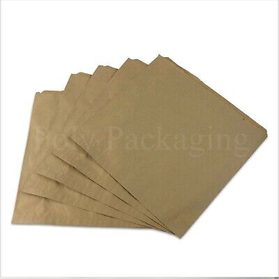 """BROWN PAPER BAGS 12.5x12.5""""(318x318mm)Large for Sandwiches/Cakes/Fruit ANY QTY"""