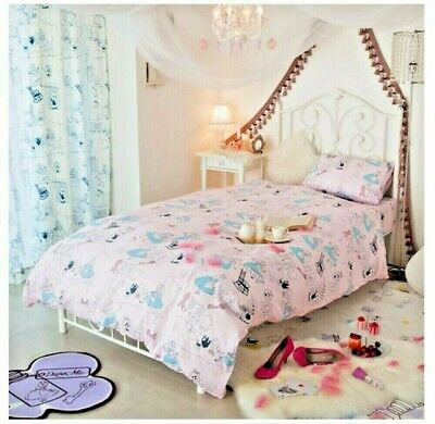 Alice in Wonderland Disney Bed Bedding Cover Pillow Sheets Set Single Twin Rare