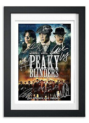 Peaky Blinders Cast Signed Poster Tv Show Series Print Photo Autograph Gift
