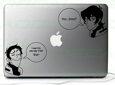 Voltron Lance and Keith Vinyl Decal Sticker for Car/Laptop/Consoles