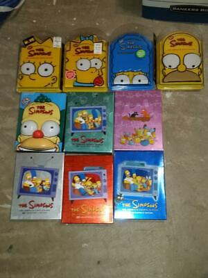 Lot THE SIMPSONS Collector's Edition DVD Complete Series 1-9 & 11 Collector Boxs