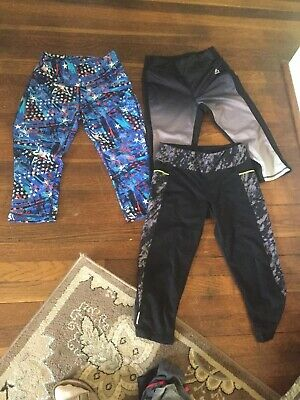 Lot of 3 Pairs of Girls Capris Size Small And XS