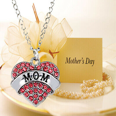Mum Gold Crystal Necklace & Pendant NEW* Birthday Christmas Mothers Day Gift RO