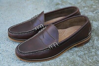 658fa377806 9.5D Oak Street Bootmakers Brown Chromexcel Beefroll Loafers Osb Trench
