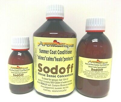 SodOff Horse Pony Fly Repellent & Sweetitch Concentrate 10ml Makes 500ml Spray