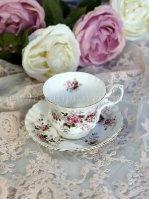 "Tazza con piattino porcellana inglese serie ""Lavender Rose"" Royal Albert"
